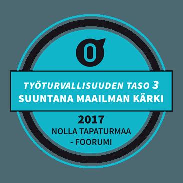 Työturvallisuuden taso 3 - 2017