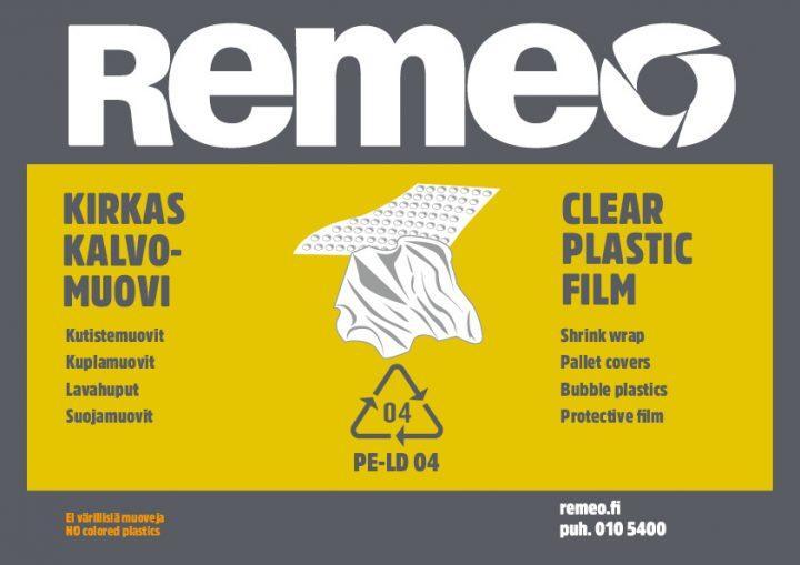 Yritysten kirkas kalvomuovin kierrätysohje