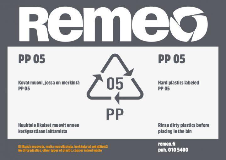 PP 05 -muovin kierrätysohje